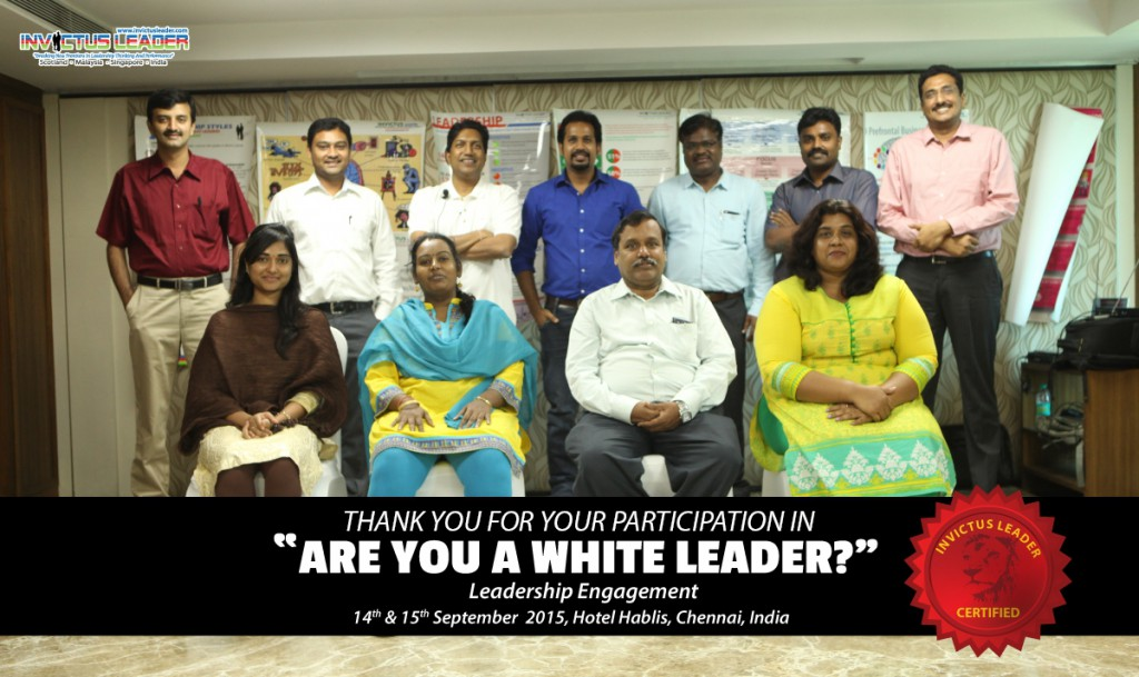 White Leadership - 14 and 15 Sep 2015 Chennai - Group Photo