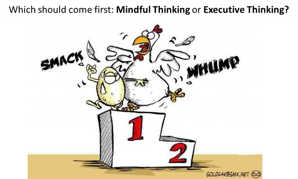 Chicken and Egg - Mindful Thinking vs Executive Thinking