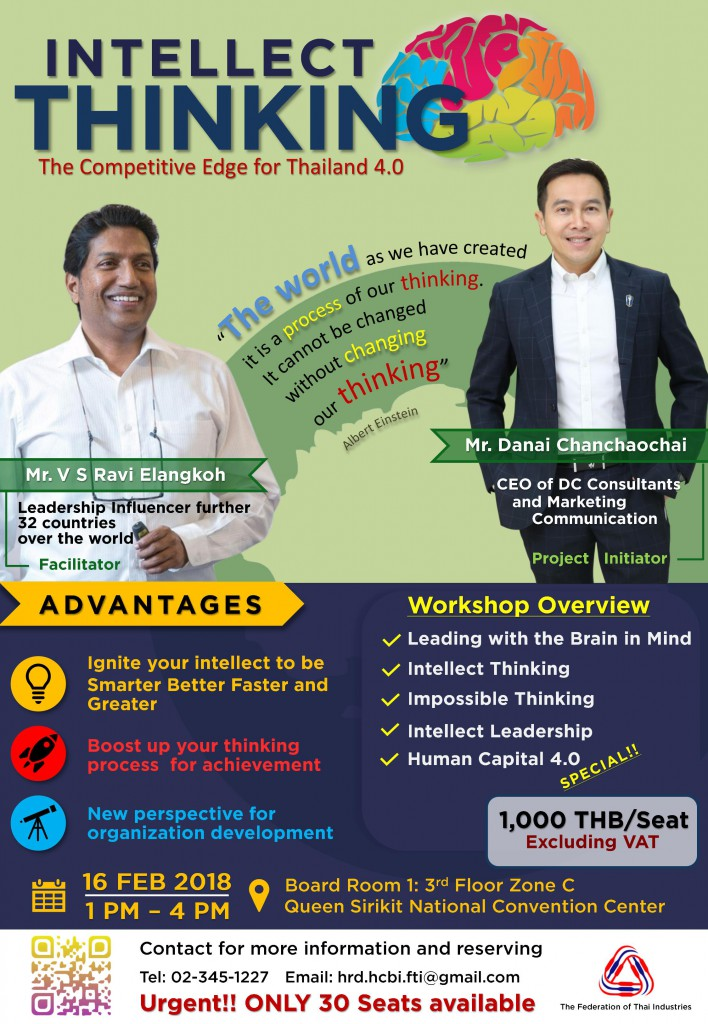 Invictus - POSTER_INTELLECT THINKING - Thailand Event 16 Feb 2018